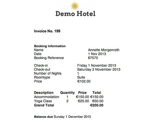 Customise Invoice Template Booking Automation Wiki - Check invoice price